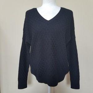 Vince Black Wool Cashmere V-Neck Sweater